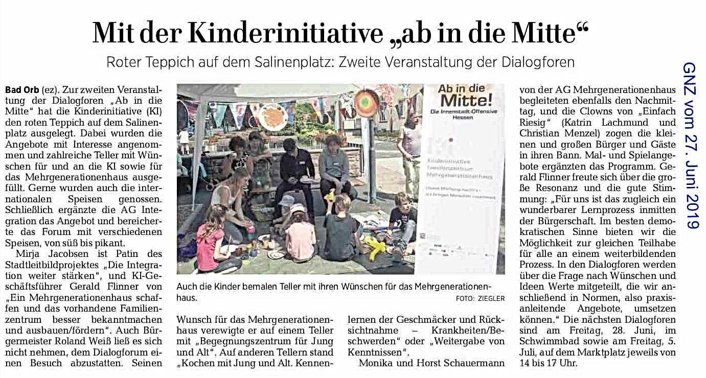 Mit der Kinderinitiative ab in die Mitte