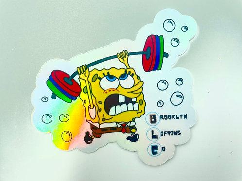 Spongebob Strong Pants Holographic Sticker