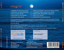 Album night Trackliste / Bernd Kronowetter