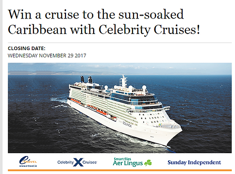 WHO WANTS TO WIN A FREE CRUISE WELL THANKS TO THE LOVELY PEOPLE - Cruise to ireland from us