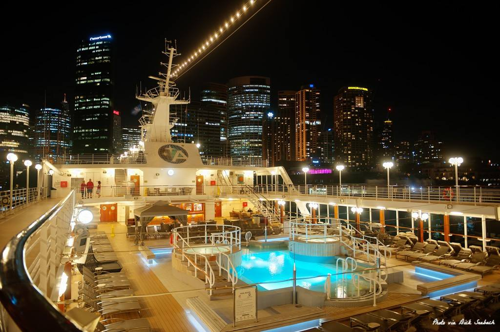 Azamara Deck at Night
