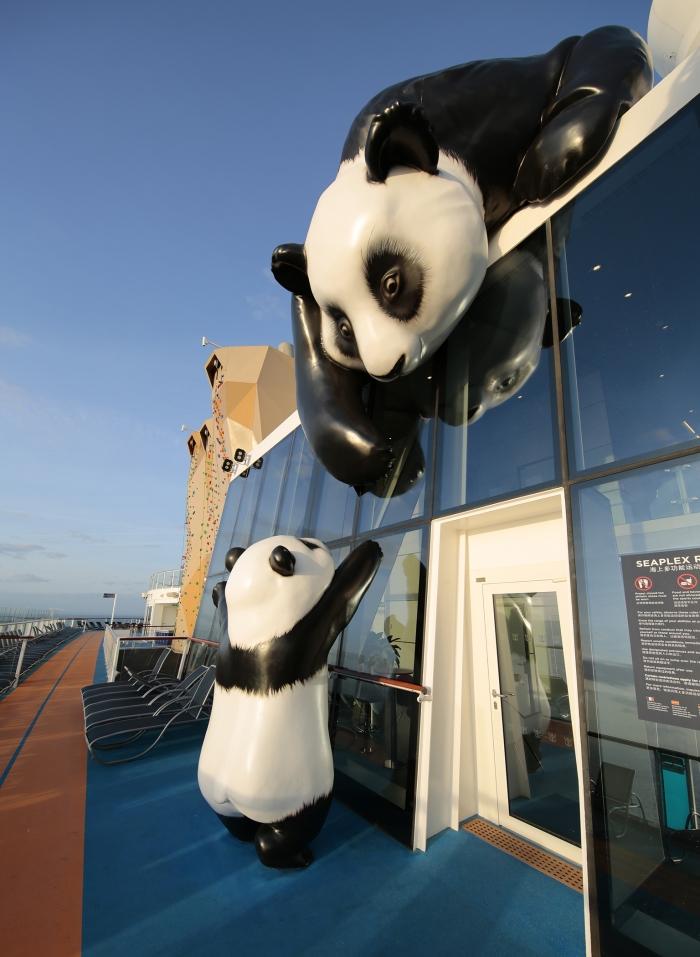 Panda's onboard Ovation of the Seas