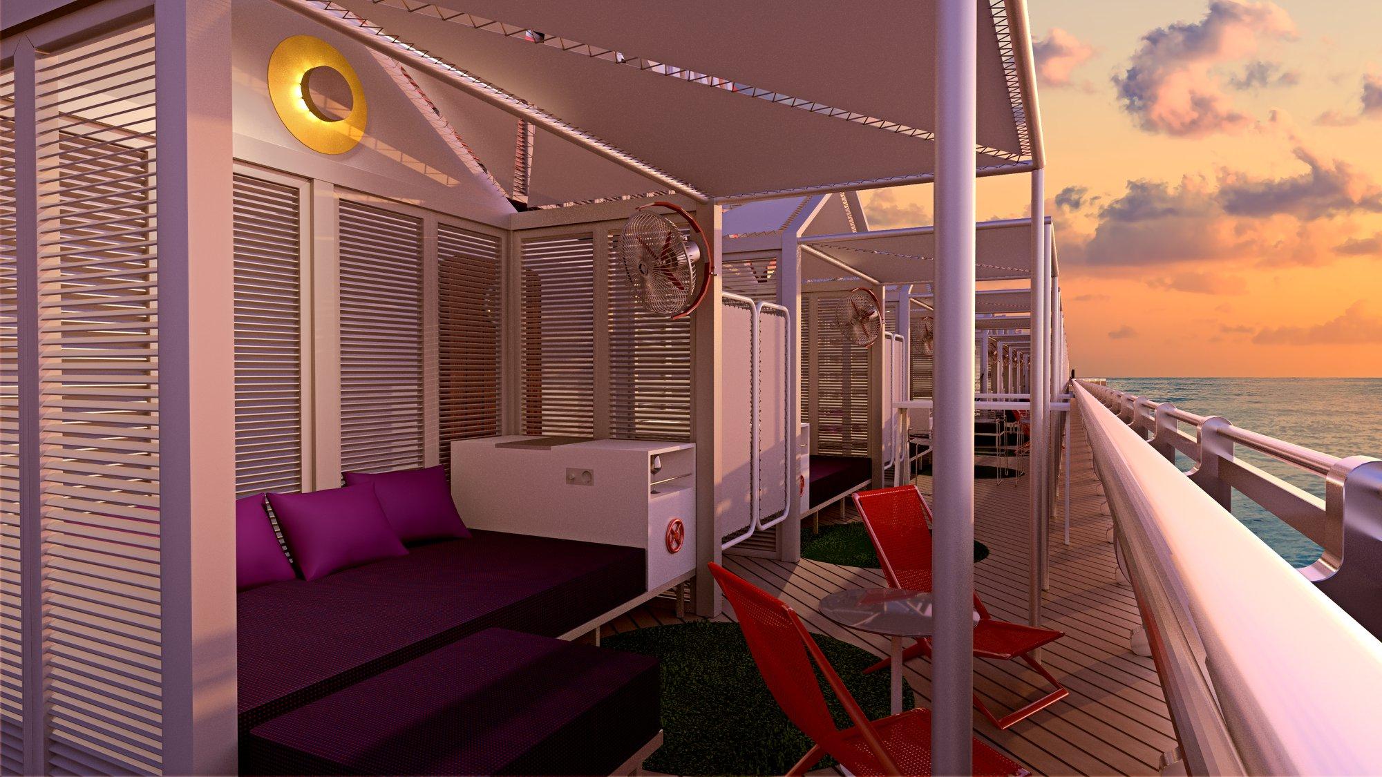 Virgin Voyages Outdoor Deck