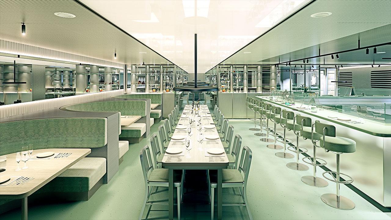 Test Kitchen Communal Table