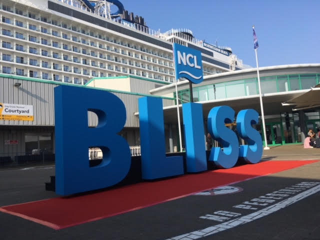 NCL Bliss Welcome Sign