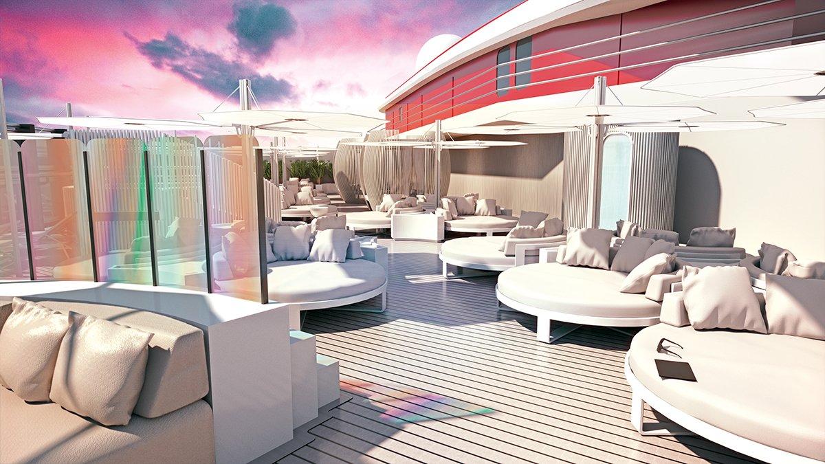 Virgin Voyages Deck Seating