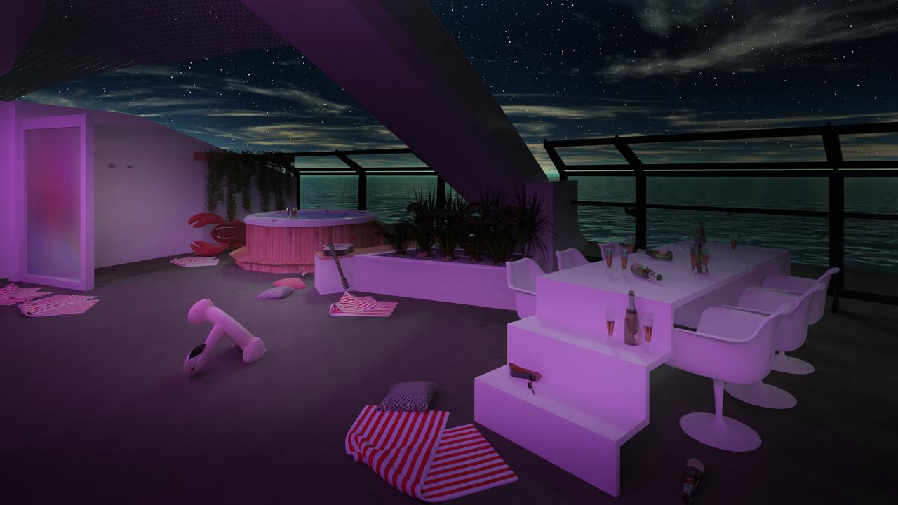 Massive Suite Night Terrace Party