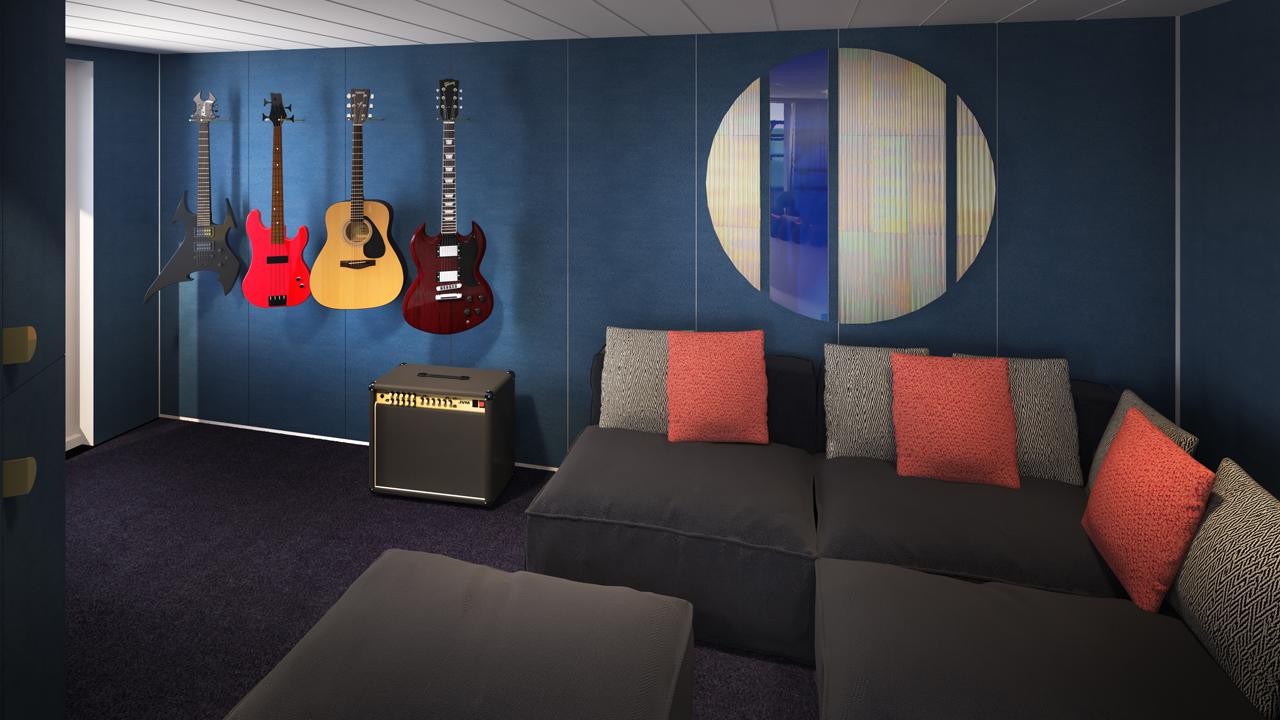 Massive Suite Day Guitars & Sofa