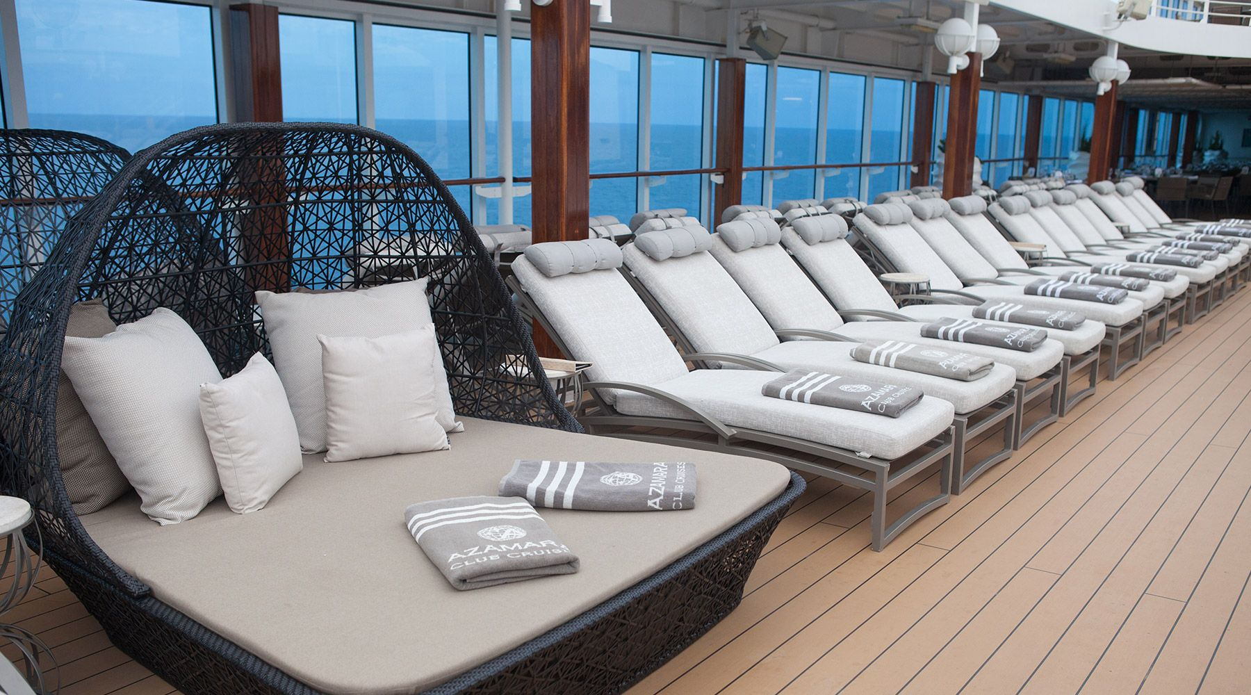Azamara Loungers on Deck