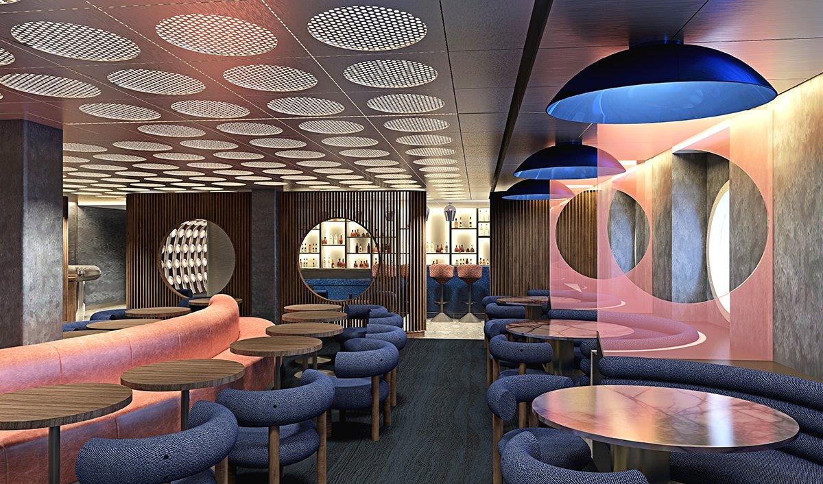 Virgin Voyages Lounge
