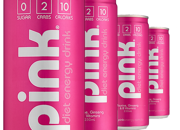 Pink Energy Drink (12 Can Carton)