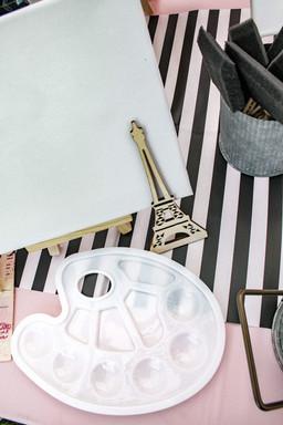 Paris themed paint party
