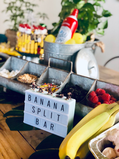 banana split bar
