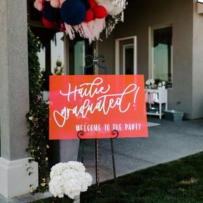 Glam Backyard Grad Party