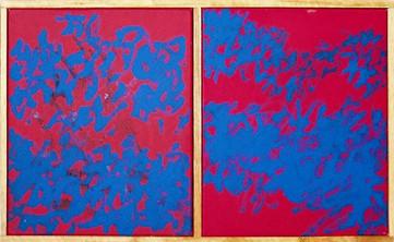 Bosquet bleu et rouge