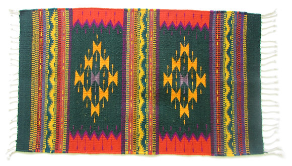 Green & Yellow Zapotec Rug