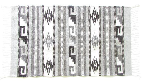 Grey Diamond and Stair Rug