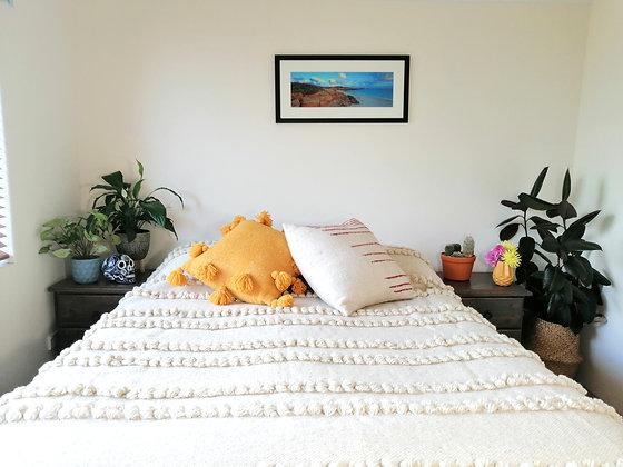 White Lined Blanket