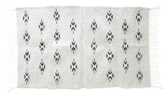 Grey Diamond Zapotec Rug