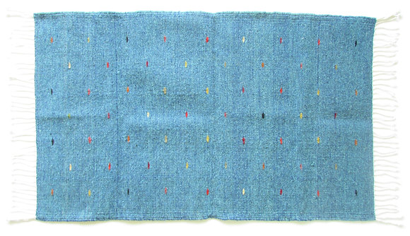 Blue colored Worm Rug