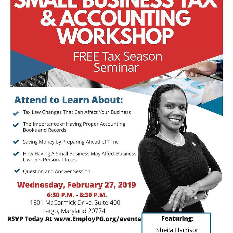 Small Business Tax & Accounting Workshop