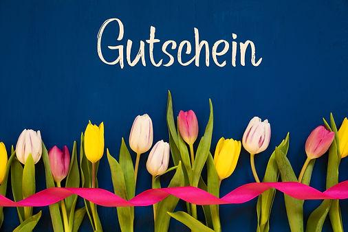 Colorful Tulip, Gutschein Means Voucher,