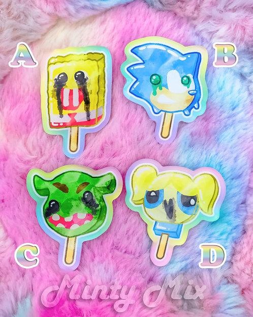 Cursed Ice Cream Pins