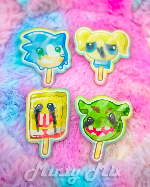 Cursed Ice Cream Pins