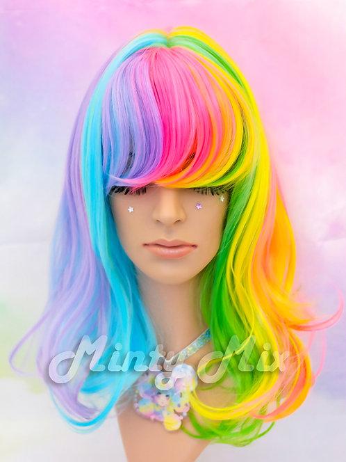 Tropical Rainbow Wig - Mid Wavy