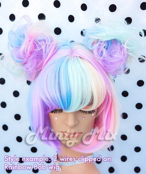 Rainbow Wire Wig