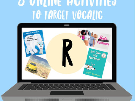 "8 Online Activities to Target Vocalic ""R"" at Home"