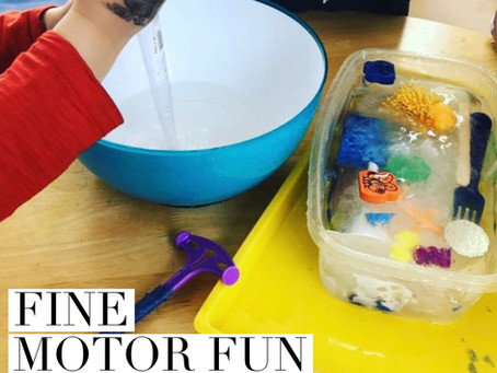 Fine Motor Fun For Infants & Toddlers