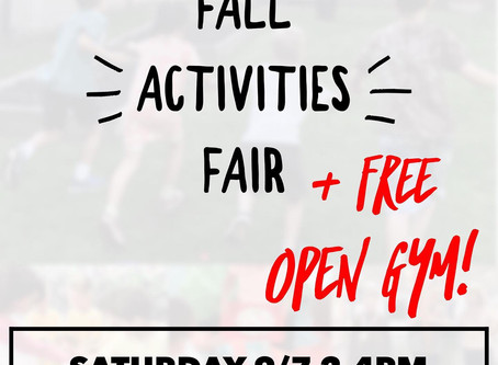 Fall Activities Fair!