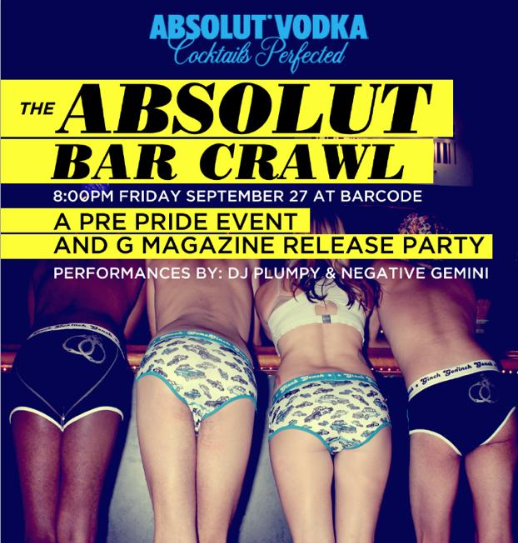 Absolut Bar Crawl