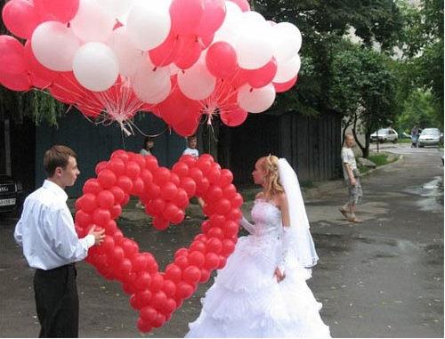 Сердце с шарами