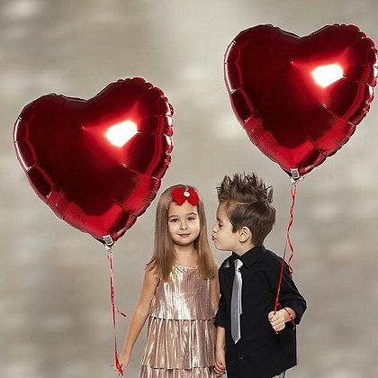 Два фольгированных сердца (100см)
