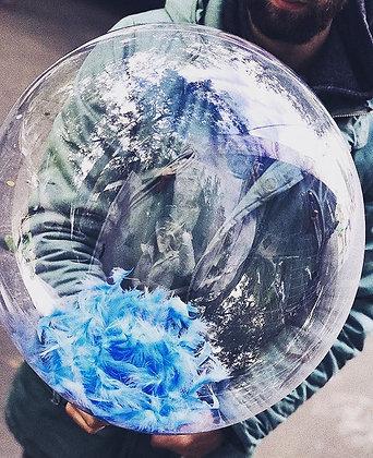 Пластиковые шары (с надписью/с перьями)