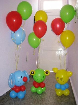 Зверушки с шариками (3шт)
