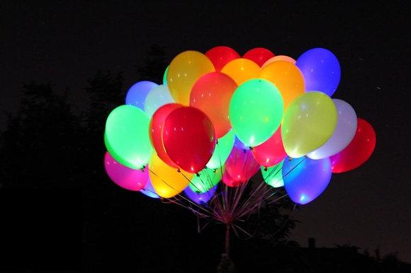 Светящиеся шары с гелием (25шт)