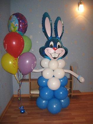 Кролик с шарами (120см)