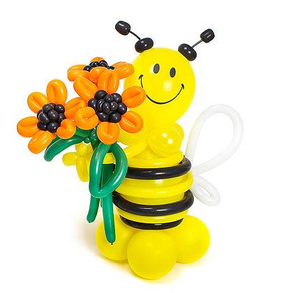 Пчелка с подсолнухом