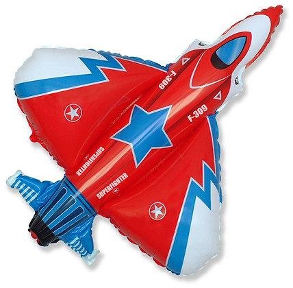 Истребитель красный (99*95см)