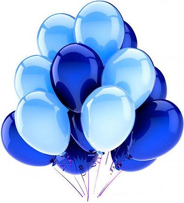Облако из сине-голубых шаров (10шт)
