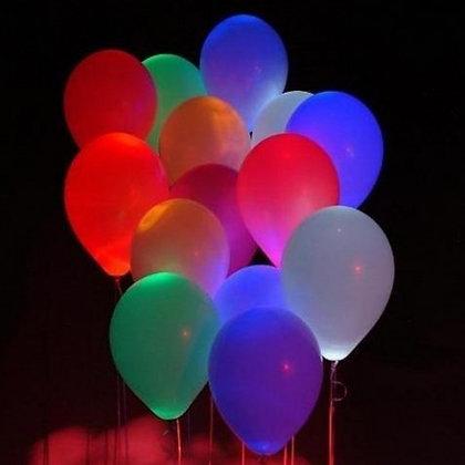 Светящиеся шары с гелием (10шт)