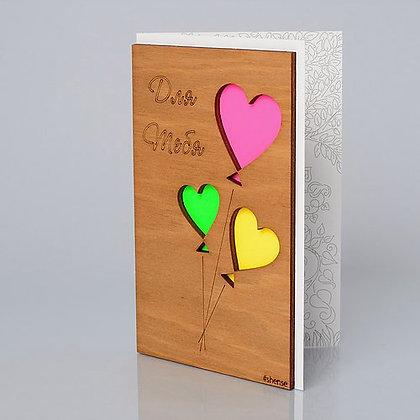 """Деревянная открытка """"Для тебя"""""""