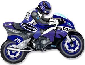 Мотоциклист синий (68*80см)