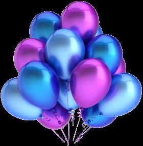 Облако из синих,голубых и фиолетовых шаров (10 шт)