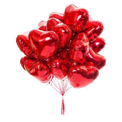Фольгированное сердце (1шт) (45см/100см)