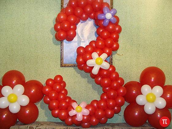 """Цифра """"3"""" с цветами"""