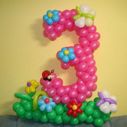 "Цифра ""3"" на полянке"